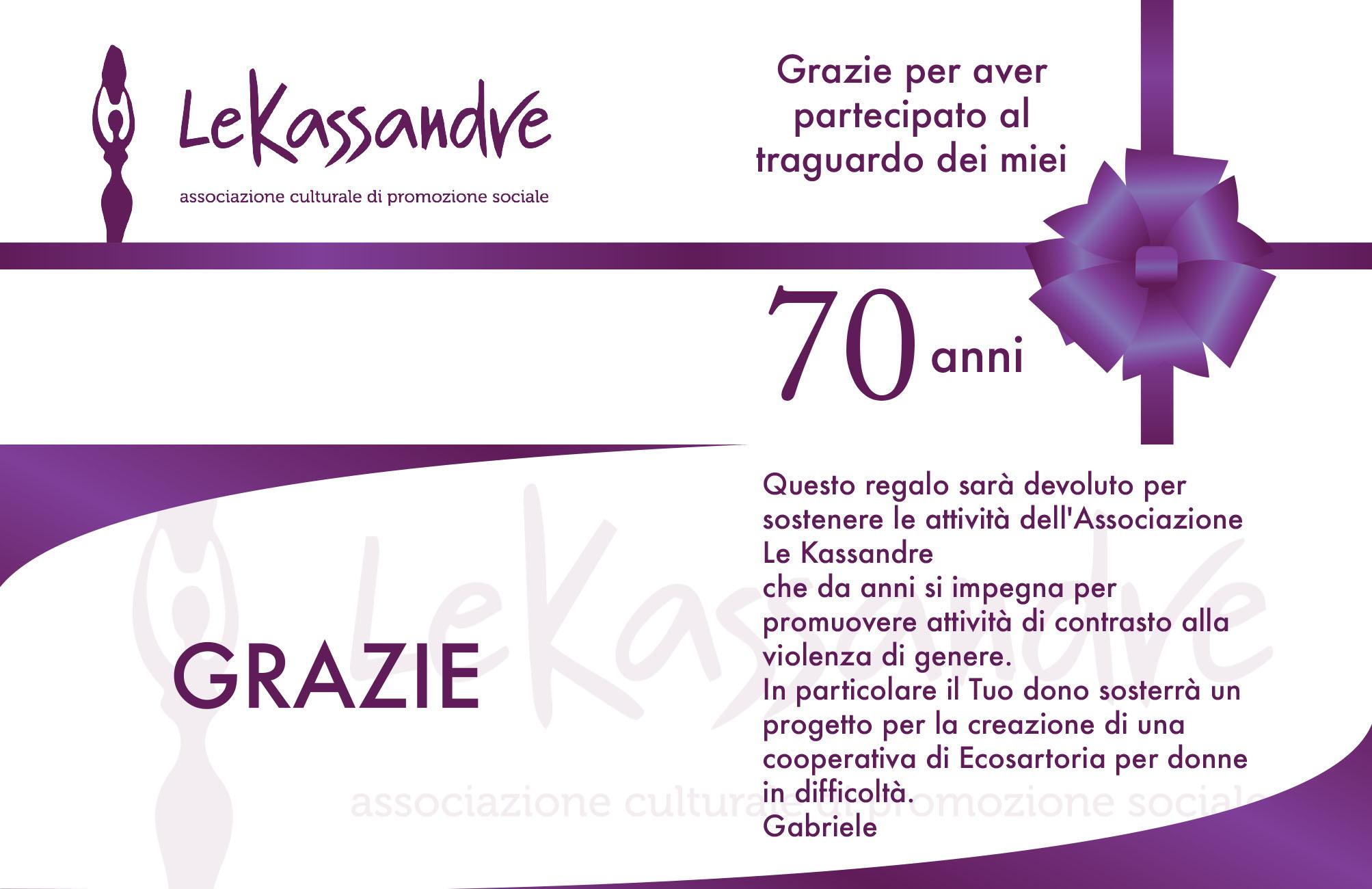 Auguri Buon Compleanno 70.Grazie Gabriele E Auguri Di Buon Compleanno Le Kassandre